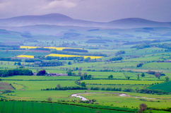 Взгляд от холмов Simonside стоковая фотография rf