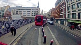 Взгляд от шины Лондона, Великобритании сток-видео