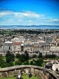Взгляд от шотландского замка в Эдинбурге, Шотландии Стоковая Фотография