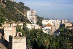 Взгляд от Alcazaba на Малаге Стоковое фото RF