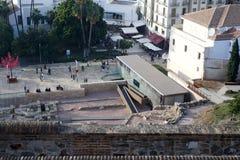 Взгляд от Alcazaba на Малаге Стоковое Изображение RF