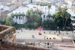 Взгляд от Alcazaba на Малаге Стоковая Фотография