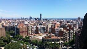 Взгляд от familia sagrada & x28; barcelona& x29; Стоковая Фотография RF