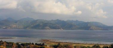 Взгляд от Gili Trawangan к Lombok Стоковые Фото