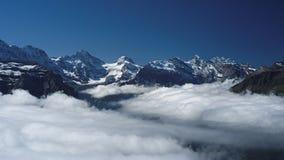 Взгляд от Mannlichen на Bernese Альпах (Berner Oberland, Швейцарии) Стоковые Изображения RF