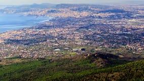 Взгляд от Mount Vesuvius Италия naples Timelaps сток-видео