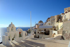 Взгляд от Oia, Santorini Стоковое Изображение