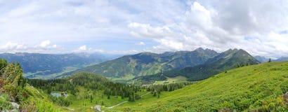 Взгляд от Planai, Шладминга, Австрии Стоковое Изображение RF