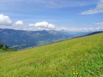 Взгляд от Planai, Шладминга, Австрии Стоковое фото RF