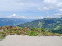 Взгляд от Planai, Шладминга, Австрии Стоковая Фотография RF