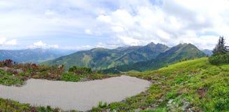 Взгляд от Planai, Шладминга, Австрии Стоковые Фотографии RF