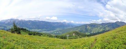 Взгляд от Planai, Шладминга, Австрии Стоковые Изображения RF