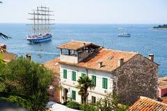 Взгляд от Rovinj, Хорватии к морю Стоковые Изображения RF