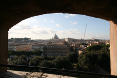 Взгляд от sant'angelo Castel к sistina cappella Стоковая Фотография RF