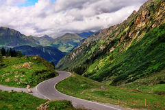 Дорога Mountian в Tirol, Австрии. Стоковая Фотография RF