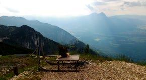 Взгляд от Untersberg в долину Стоковые Фотографии RF