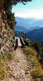 Взгляд от Untersberg в долину Стоковые Изображения RF