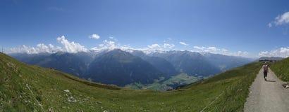 Взгляд от Wildkogel, Австрии Стоковое Изображение RF