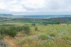 Взгляд долины от красных утесов Стоковые Фото