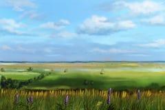 Взгляд долины от холма стоковое изображение rf
