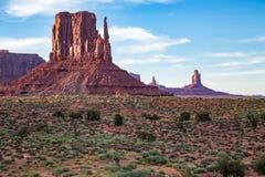Взгляд долины памятника на сумраке Стоковое Изображение RF