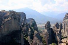 взгляд долины Украины горы Крыма Горный вид thessaly Горы Thessaly Kalambaka Взгляд долины Стоковое Фото