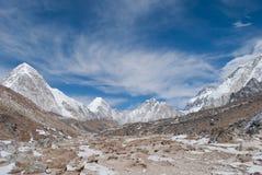 Взгляд долины Эвереста Стоковое Изображение