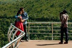 Взгляд долины Araku сценарный Стоковое Изображение