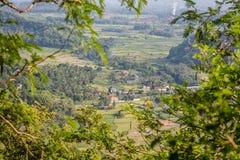 Взгляд долины, Candidasa, остров Бали, Индонезия стоковые изображения