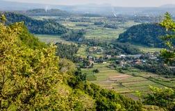 Взгляд долины, Candidasa, остров Бали, Индонезия стоковое фото rf