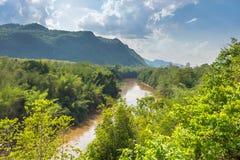 Взгляд долины Green River Kwai, Kanchanaburi, тайского Стоковые Фото