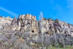 Взгляд долины Ihlara индюк Стоковые Фото