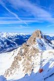 Взгляд долины Meribel Лыжный курорт Meribel Стоковые Изображения RF