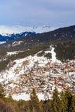 Взгляд долины Meribel Центр деревни Meribel (1450 m) Стоковые Изображения