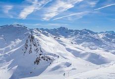 Взгляд долины Val Thorens Стоковое Изображение