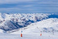 Взгляд долины Val Thorens Стоковое фото RF