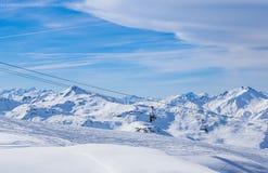 Взгляд долины Val Thorens Стоковая Фотография RF