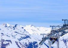 Взгляд долины Val Thorens Стоковые Фото