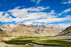 Взгляд долины Zanskar вокруг villange Padum Стоковые Фотографии RF