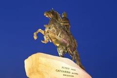 Взгляд памятника бронзового наездника (Питер большого) Стоковая Фотография