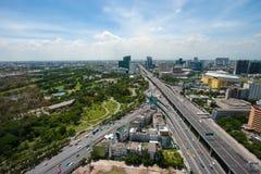 Взгляд панорамы Бангкока, Таиланд Стоковое Изображение RF