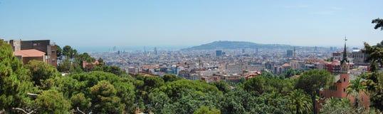Взгляд панорамы Барселоны Стоковая Фотография RF