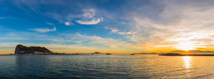 Взгляд панорамы Гибралтара Стоковые Фото