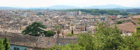 Взгляд панорамы испанского города Стоковые Фотографии RF