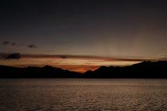 Взгляд панорамы на красивом острове komodo внутри национального парка в Индонезии Стоковая Фотография