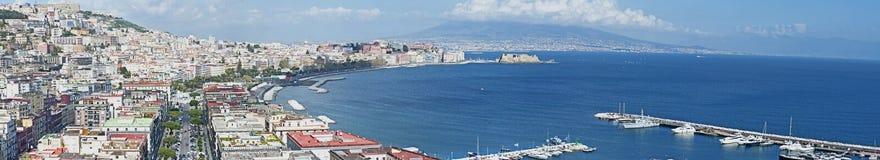 Взгляд панорамы Неаполя Стоковое фото RF