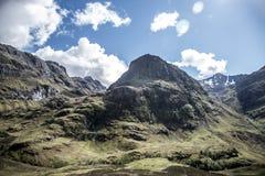 Взгляд 2 панорамы природы Шотландии гористой местности Глена Coe Стоковые Изображения RF