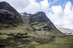 Взгляд 5 панорамы природы Шотландии гористой местности Глена Coe Стоковые Фотографии RF