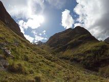Взгляд 3 панорамы природы Шотландии гористой местности Глена Coe Стоковые Изображения