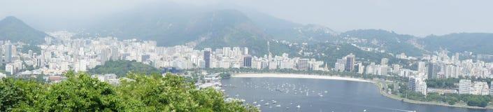 Взгляд панорамы Рио-де-Жанейро Стоковое фото RF